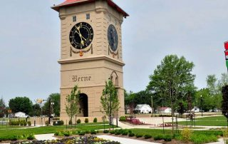 Berne Clock Tower Quilt Garden